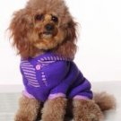 X Small Dog Striped Hoodie - Violet