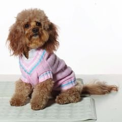 Large Dog Preppy Tennis Sweater - Pink