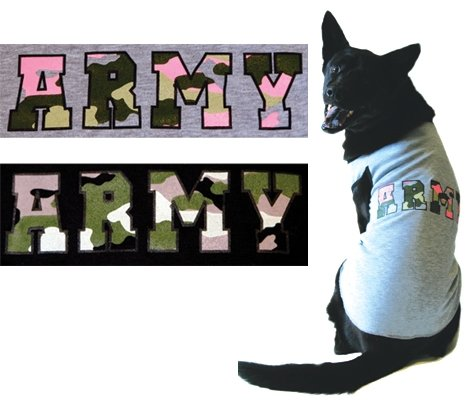 Medium Dog Army Tank - Gray/Pink