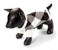 X Small Dog Argyle Classic Sweater - Black/Charcoal