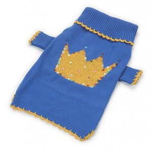 Small Dog Prince Sweater - Blue