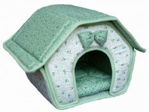 Small Breed Soft Dog House - Green
