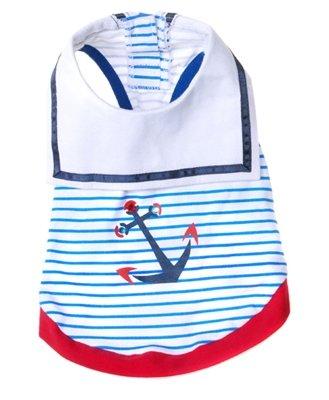X Small Dog Sailor Tee Shirt - Blue