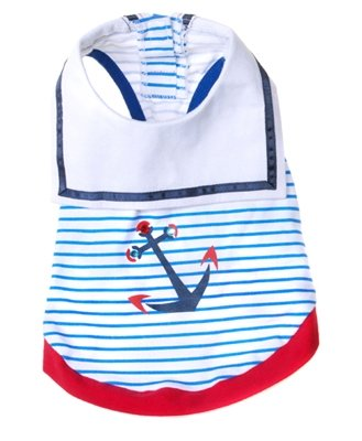 Medium Dog Sailor Tee Shirt - Blue