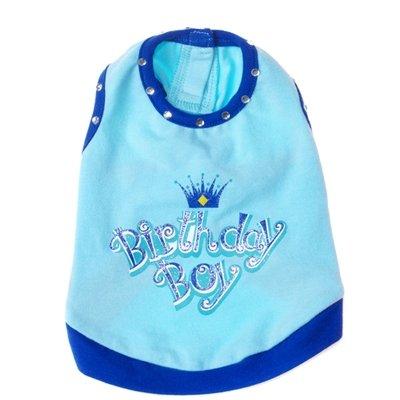 Large Dog Birthday Boy Tank - Blue