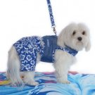 Small Hawaiian Netted Dog Harness With Leash - Royal Blue