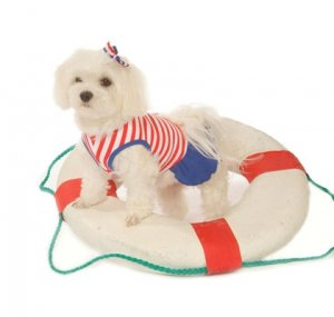 X Small Striped Dog Sailor Girl Tank Dress