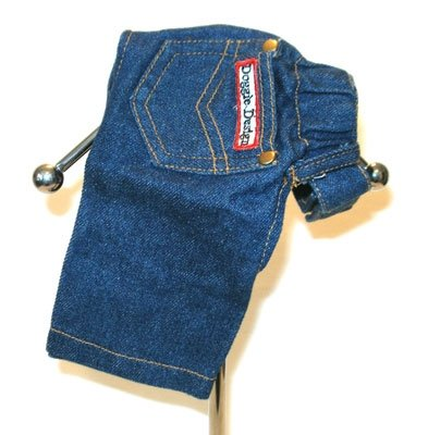 XX Small Designer Denim Dog Jeans - Blue