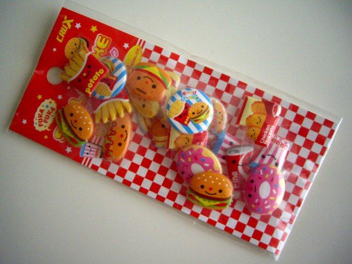 kawaii Crux fast foods puffy stickers