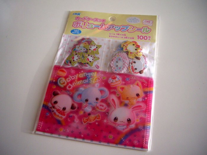 kawaii Crux baby angel animals sticker flakes