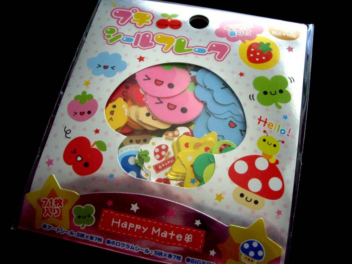 kawaii Kamio happy mate sticker sack