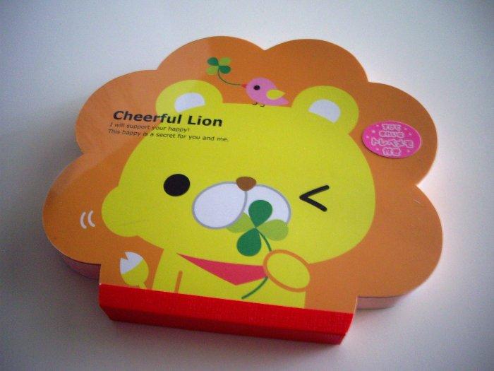 kawaii Kamio cheerful lion die-cut memo pad