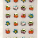 Basel smiling apples sticker sheet