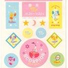 Japanese scorpion sticker sheet