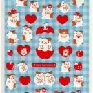 kawaii Mind Wave apple and strawberry sticker sheet