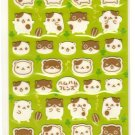 kawaii Point Inc round and happy hamsters sticker sheet