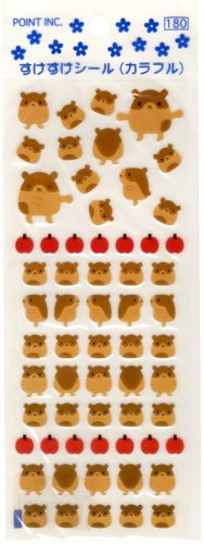 Point Inc. brown hamsters sticker sheet