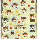 kawaii Q-lia army kohamu sticker sheet