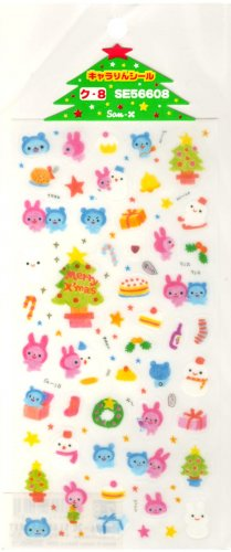 kawaii San-x seal market merry xmas sticker sheet 2000