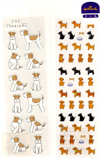 Dogs sticker sheet lot 2 pieces SOLD OUT