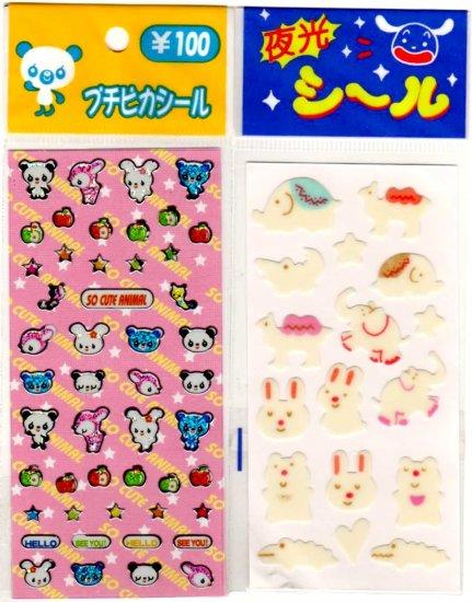 kawaii animals mini sticker lot