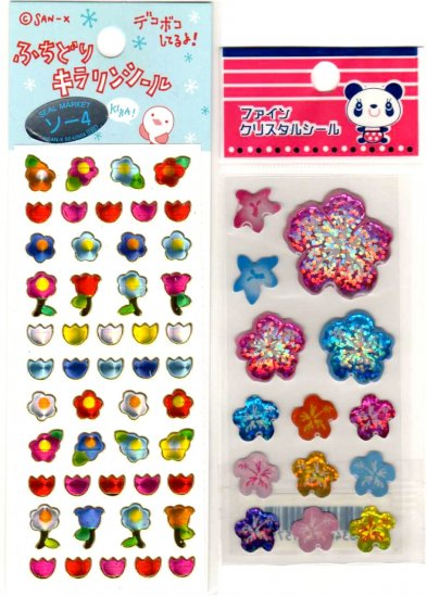 kawaii flowers mini sticker lot