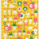 kawaii Kamio Japan apple bunnies sticker sheet