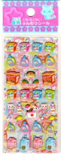kawaii Lemon co market items mini sticker sheet
