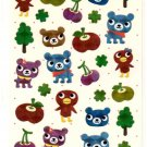 kawaii Mind Wave forest bears sticker sheet
