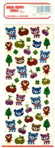 kawaii Mind Wave forest bears sticker sheet