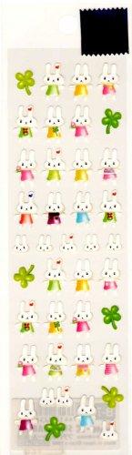 kawaii San-x clover rabbits sticker sheet 1999