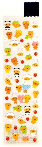 kawaii San-x dressed up bears sticker sheet 1999