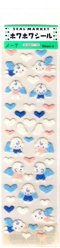 kawaii San-x heart angels sticker sheet 1998