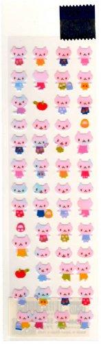 kawaii San-x pink cats sticker sheet 1999