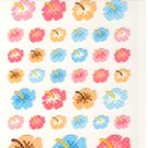 Mind Wave blue, pink, orange flowers sticker sheet