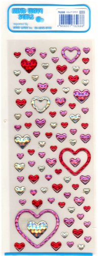 Mind Wave heart rings sticker sheet