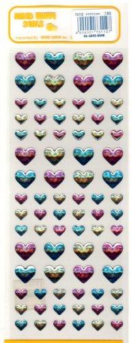 Mind Wave tricolored hearts sticker sheet