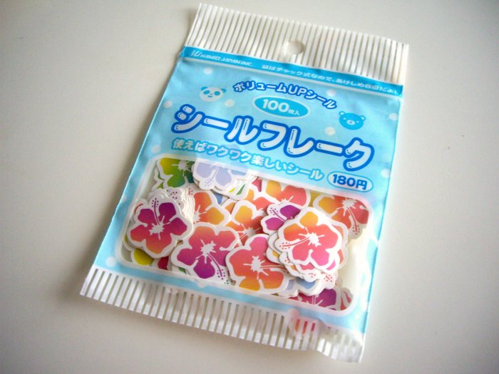 Kamio Japan flowers sticker sack
