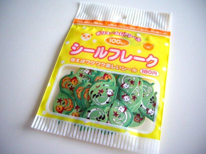 Kamio Japan leaf animals sticker sack