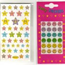Stars and smileys sticker sheets