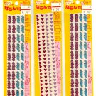 Flowers and hearts sticker sheets