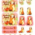 Venice Japan raccoon rascal sticker sheet