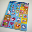 kawaii Sanrio hello kitty feeling groovy sticker sheet 2002