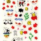 kawaii Preco panda goldfish festival sticker sheet