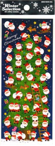 kawaii Mind Wave santa christmas tree sticker sheet