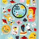 kawaii Crux story of children sticker sheet USED