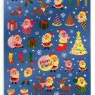 kawaii Kamio Japan santa merry xmas sticker sheet USED