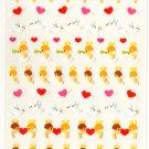 kawaii Mind Wave heart angels sticker sheet USED