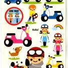 kawaii Mind Wave motor bike sticker sheet