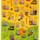 kawaii Mind Wave temple monks sticker sheet